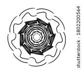 circular pattern in form of... | Shutterstock . vector #1802200564