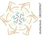 circular pattern in form of... | Shutterstock . vector #1802200567