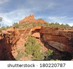 sedona red rock formation ... | Shutterstock . vector #180220787