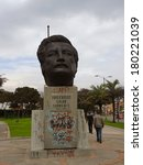 Small photo of BOGOTA, COLOMBIA - JANUARY 6: Monument to the memory of politician Carlos Galan, on January 6, 2014 in Bogota, Colombia.