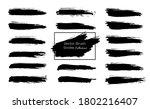 set of black grunge brush... | Shutterstock .eps vector #1802216407