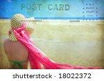 Vintage Postcard Of Lady At...