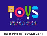 playful style font  childish... | Shutterstock .eps vector #1802252674