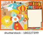 kids menu template circus style | Shutterstock .eps vector #180227399