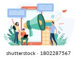 bloggers advertising referrals. ... | Shutterstock .eps vector #1802287567