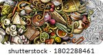 russian food hand drawn doodle... | Shutterstock .eps vector #1802288461