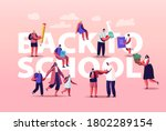 back to school concept. parents ... | Shutterstock .eps vector #1802289154