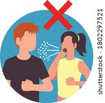 avoid close contact. covid 19...   Shutterstock .eps vector #1802297521