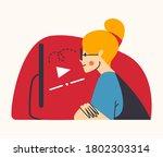 young millennial female... | Shutterstock .eps vector #1802303314
