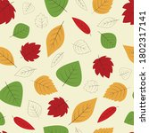 colorful autumn seamless... | Shutterstock .eps vector #1802317141
