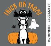 trick or treat halloween set  ... | Shutterstock .eps vector #1802322514