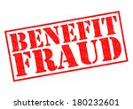 benefit fraud red rubber stamp... | Shutterstock . vector #180232601