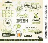 st. patrick's day design... | Shutterstock .eps vector #180232931