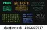 digital letters and numbers set.... | Shutterstock .eps vector #1802330917