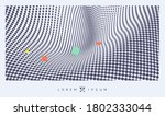 wavy surface with optical... | Shutterstock .eps vector #1802333044