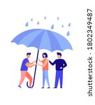 people support each other  the...   Shutterstock .eps vector #1802349487