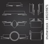 ribbon set on black background | Shutterstock .eps vector #180235871