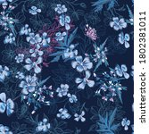 vector seamless pattern with... | Shutterstock .eps vector #1802381011