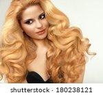 blonde hair. portrait of... | Shutterstock . vector #180238121