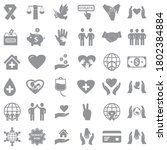 charity and donation icons....   Shutterstock .eps vector #1802384884