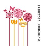 flowers design over  white ... | Shutterstock .eps vector #180238565