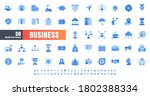 vector of 50 business and... | Shutterstock .eps vector #1802388334