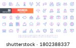 vector of 50 business and... | Shutterstock .eps vector #1802388337