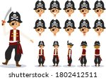 little boy in pirate costume... | Shutterstock .eps vector #1802412511