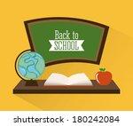 school design over yellow ... | Shutterstock .eps vector #180242084