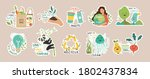 ecology colorful stickers... | Shutterstock .eps vector #1802437834