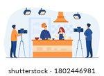 chef preparing food on popular...   Shutterstock .eps vector #1802446981