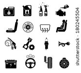 car part set of repair icon... | Shutterstock .eps vector #180245504