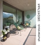 Elegant Corner Of A Terrace Of...