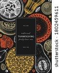 thanksgiving desserts menu...   Shutterstock .eps vector #1802459611