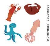 sea food design over white... | Shutterstock .eps vector #180245999
