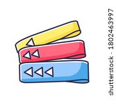 resistance bands rgb color icon....   Shutterstock .eps vector #1802463997