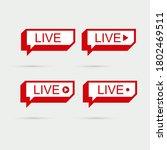 set live icon symbol. social...   Shutterstock .eps vector #1802469511