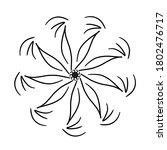 circular pattern in form of... | Shutterstock . vector #1802476717