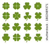 Clover Leaves With Four And...