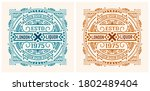 old label with floral details.... | Shutterstock .eps vector #1802489404