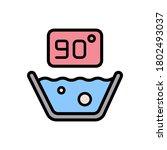 90 degree washing icon. simple...