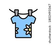 t shirt clothespin icon. simple ...