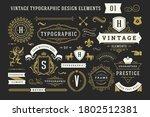 vintage typographic decorative... | Shutterstock .eps vector #1802512381