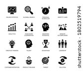 business and flat circle icons  ... | Shutterstock .eps vector #1802519794
