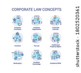 corporate law concept icons set.... | Shutterstock .eps vector #1802520361