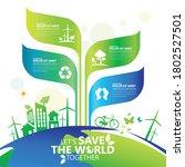 ecology.green cities help the... | Shutterstock .eps vector #1802527501