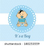 baby shower card design over a... | Shutterstock .eps vector #180253559
