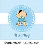 baby shower card design over a... | Shutterstock .eps vector #180253559