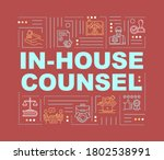 in house lawyer word concepts...