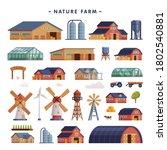 rural buildings set  barn ... | Shutterstock .eps vector #1802540881